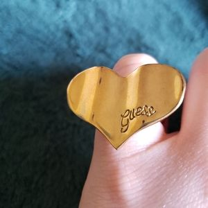 Guess Gold Heart Ring